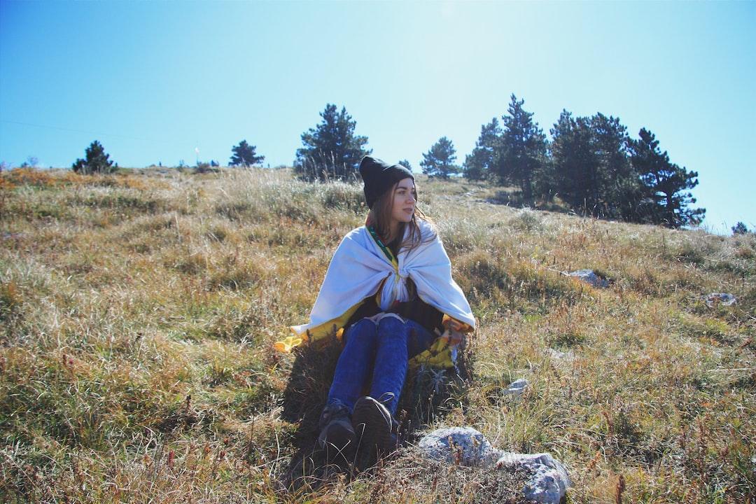 Hiker-girl on camp