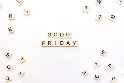 text good friday zoom background