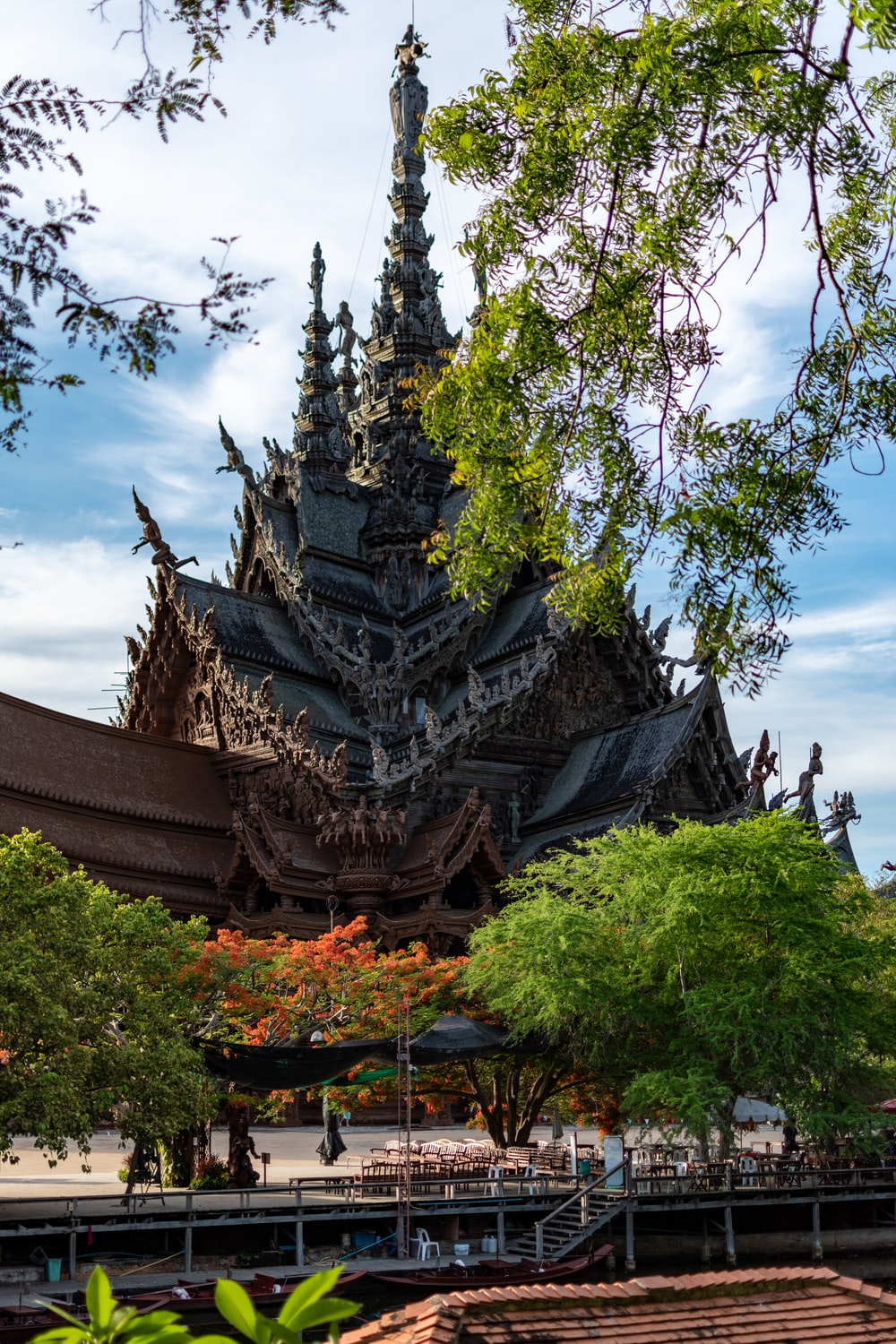 brown temple under blue sky during daytime