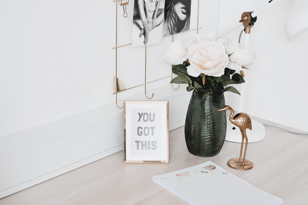 Home Office With Gold Decor - unsplash