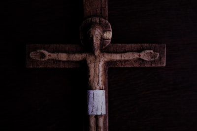brown wooden cross with white cross good friday zoom background