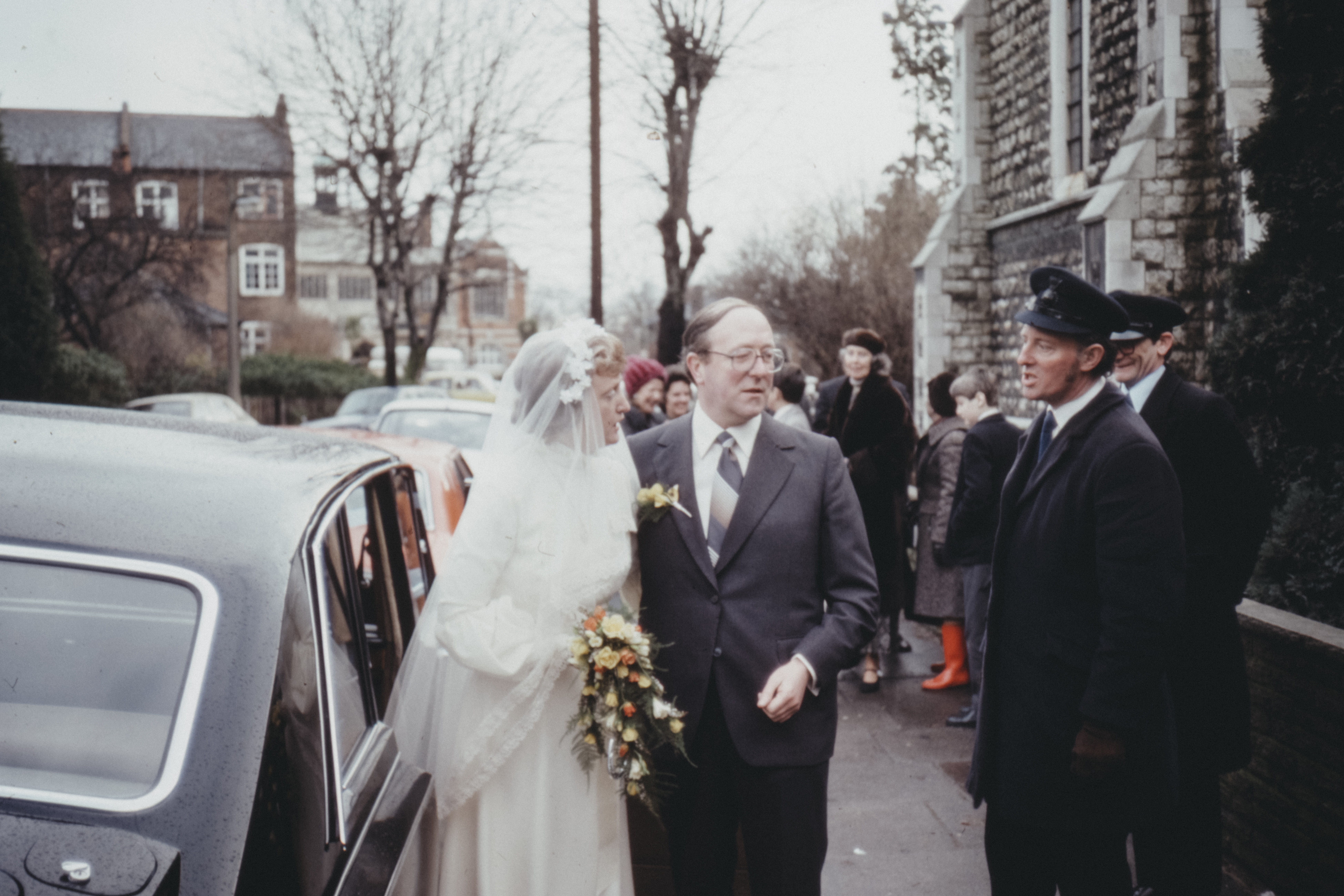 Wedding - 1970s film photo