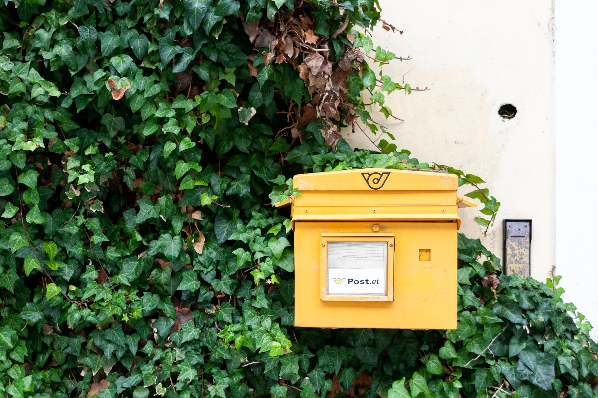 Post box in Sankt Gilgen, Austria.