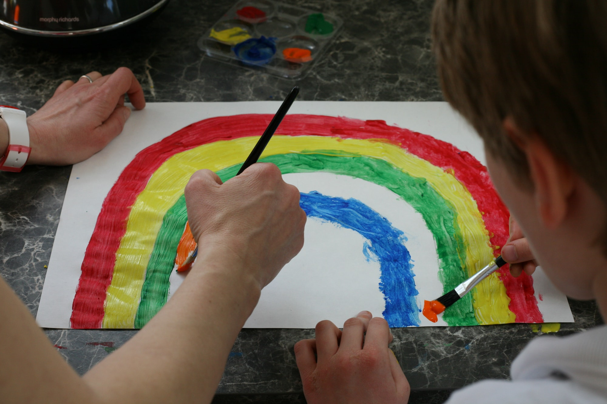 Painting rainbows