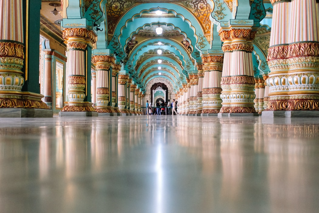 Intricate architecture of Mysore palace