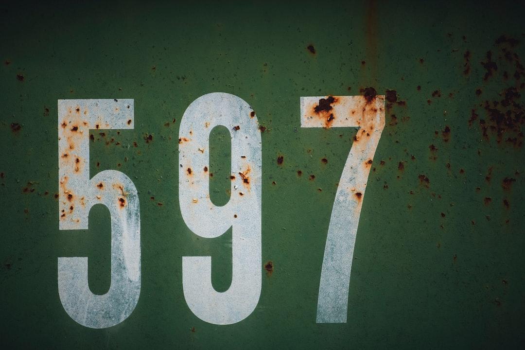 597 numbers rusty metal