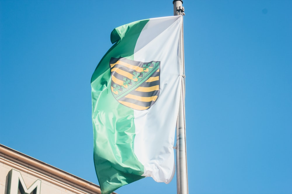 green yellow and white flag
