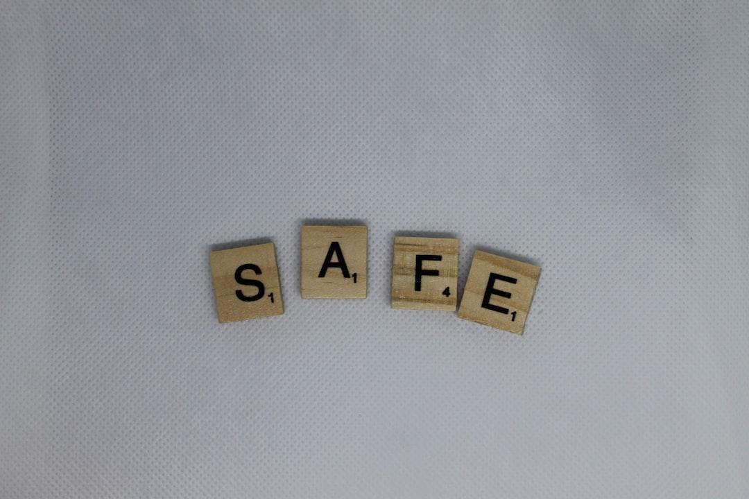 S A F E letter tiles