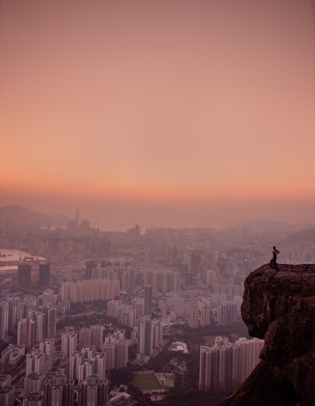 Standing on the suicide cliff in HK