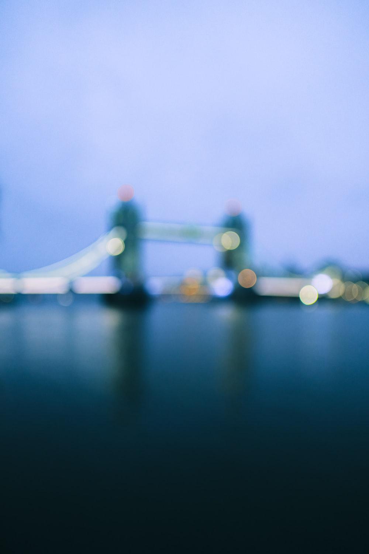 golden gate bridge in tilt shift lens