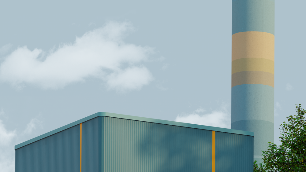 blue and yellow building under white clouds