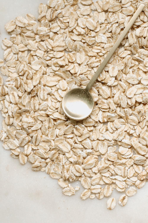 silver spoon on white rice