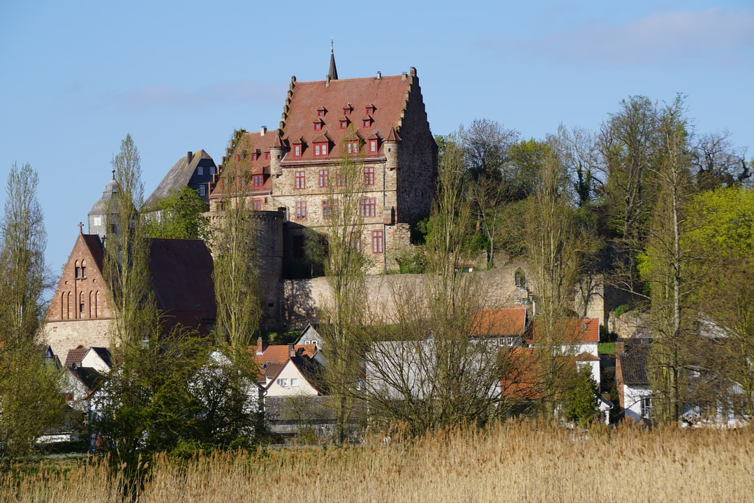 Medevial Schweinsberg castle, goes back to the 13th century, overlooking the moor.