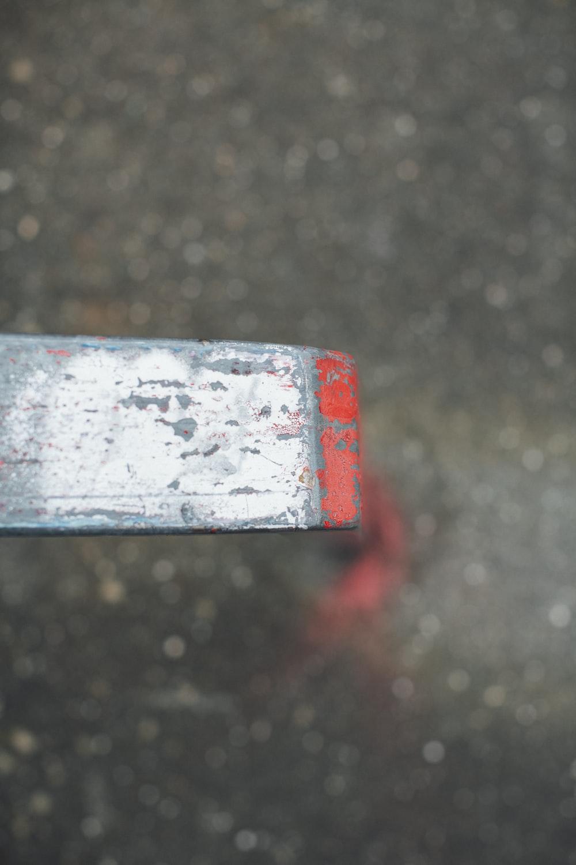 red and white rectangular box