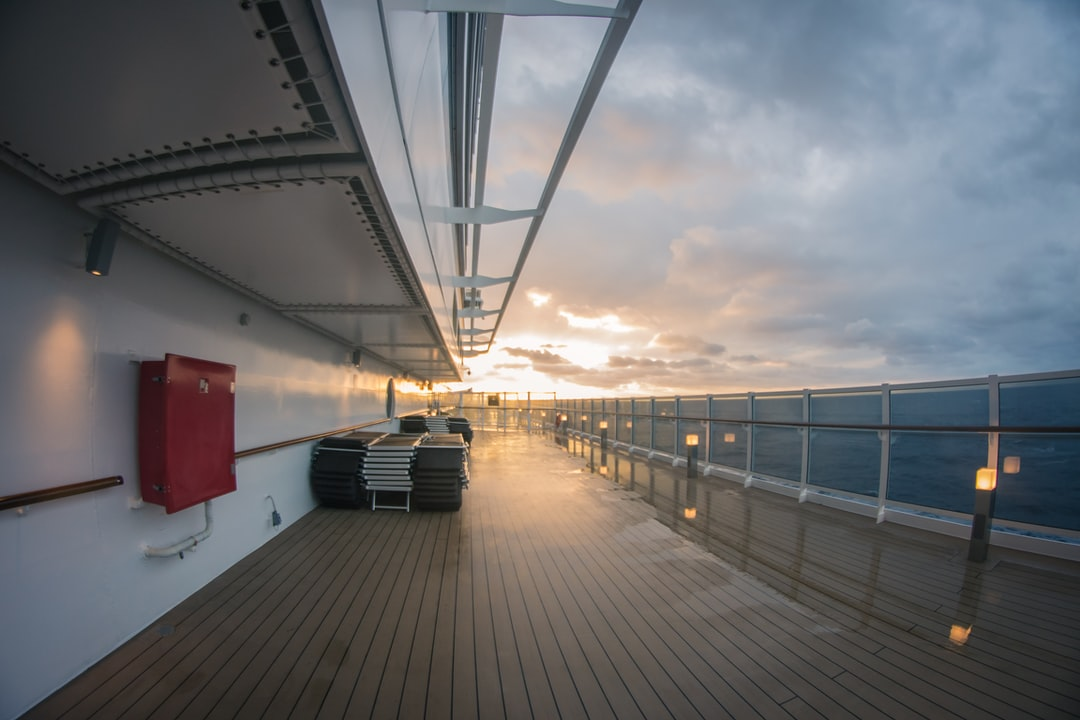 Sunrise on the cruise ship MSC Seaside during a drive through the Caribbean in January 2018.