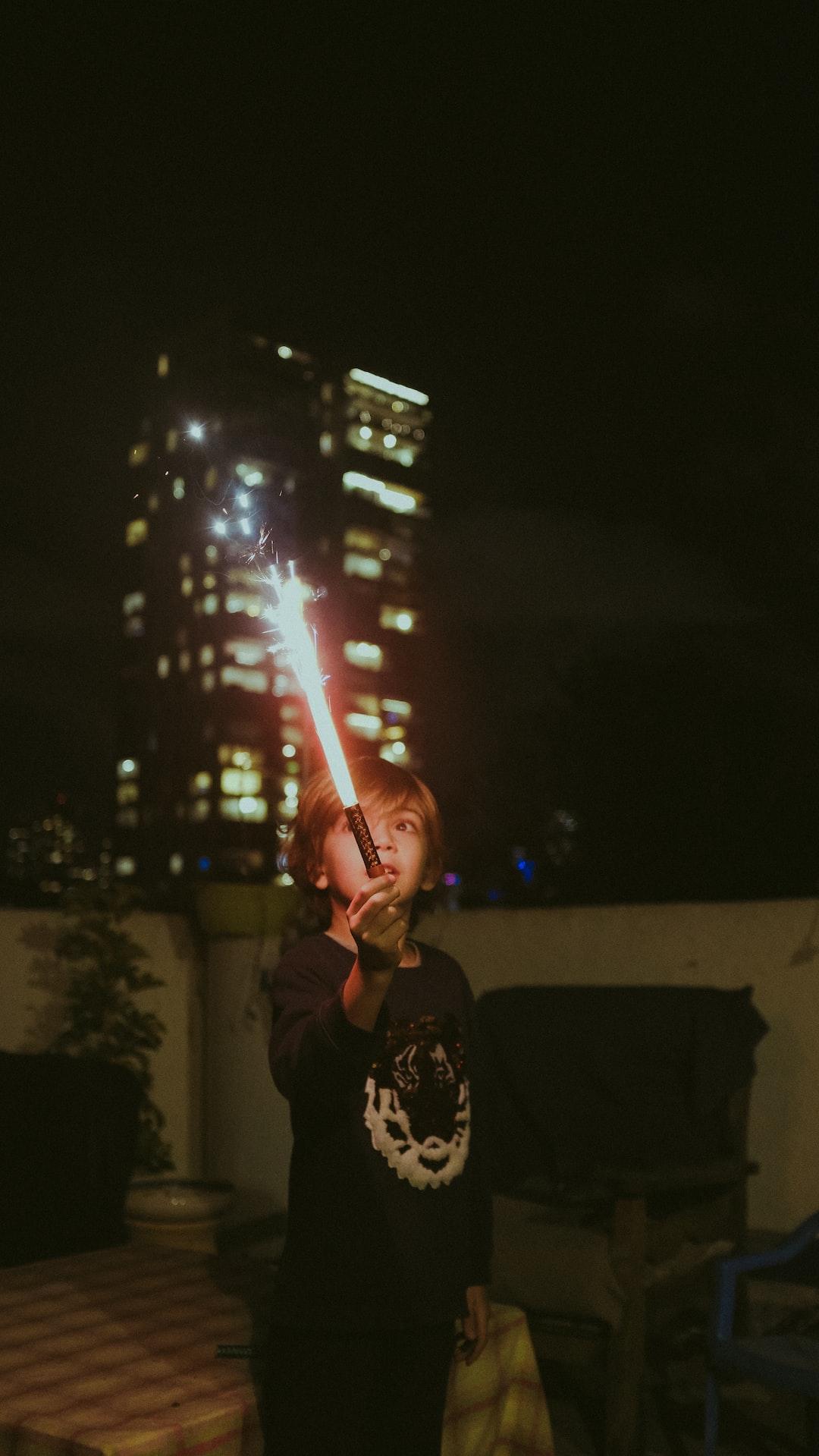 light flair fun at night