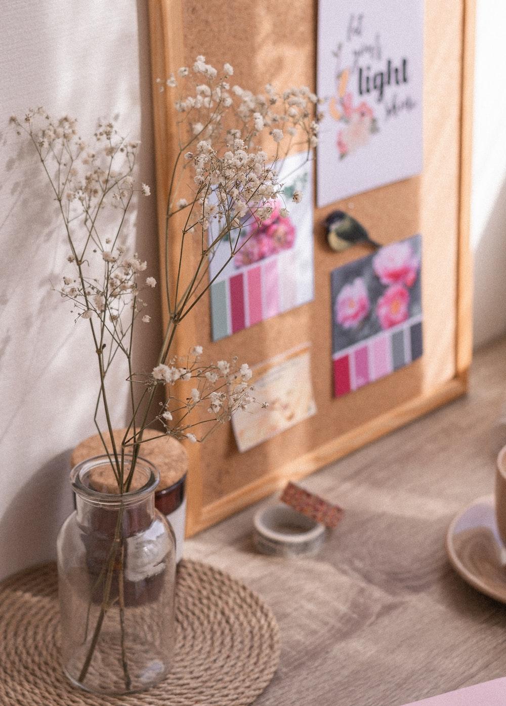 brown wooden framed glass cabinet