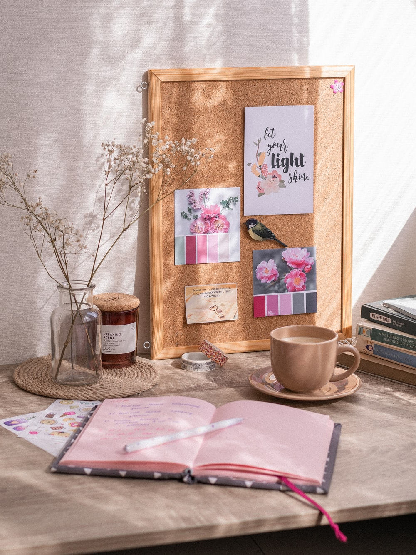 brown wooden framed wall decor