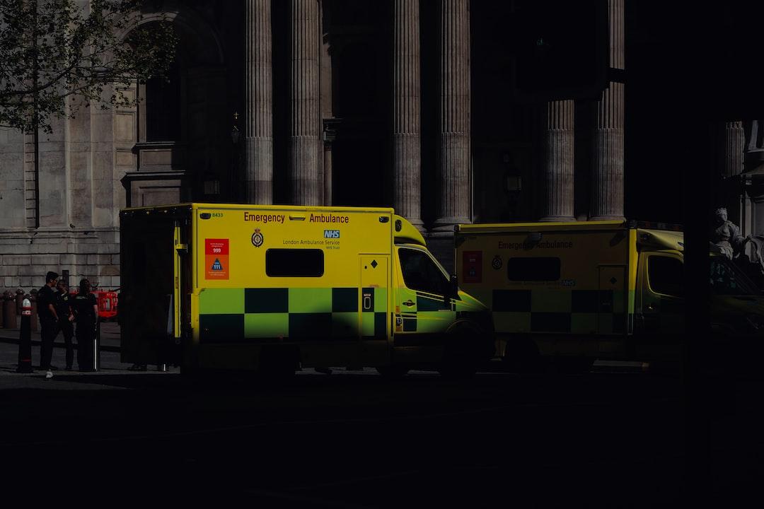 Ambulances and paramedics outside St Pauls cathedral in London during coronavirus lockdown