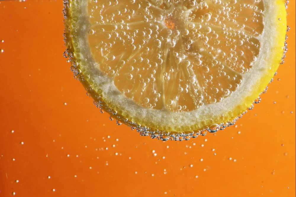orange and white water droplets