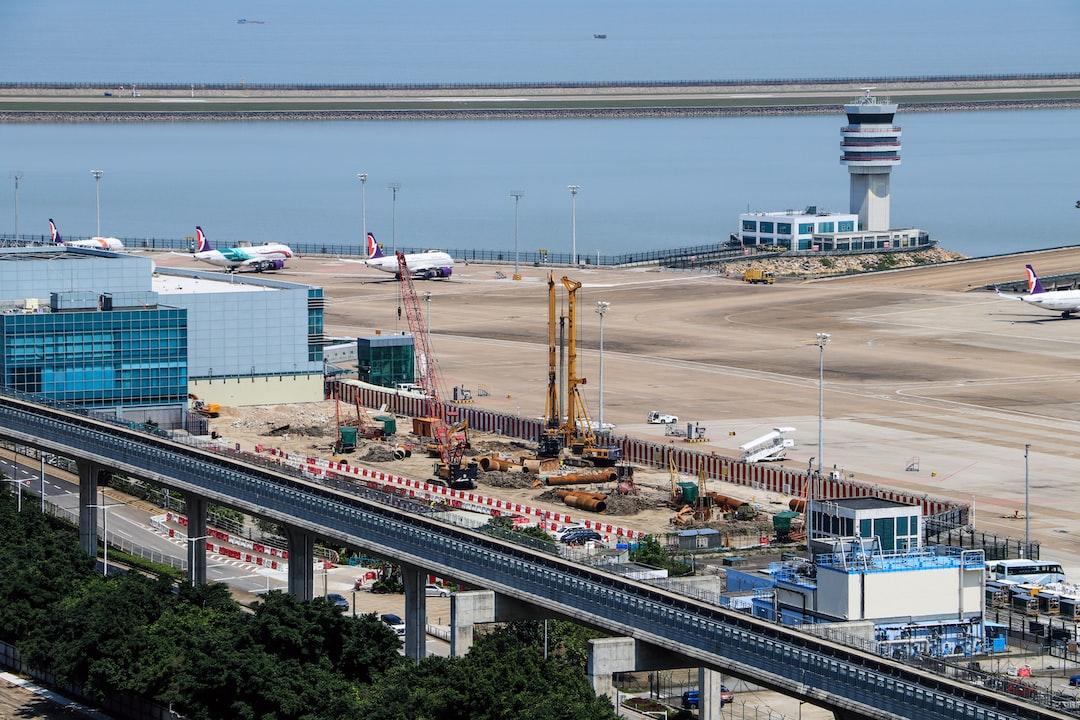 Construction works at Macau International Airport