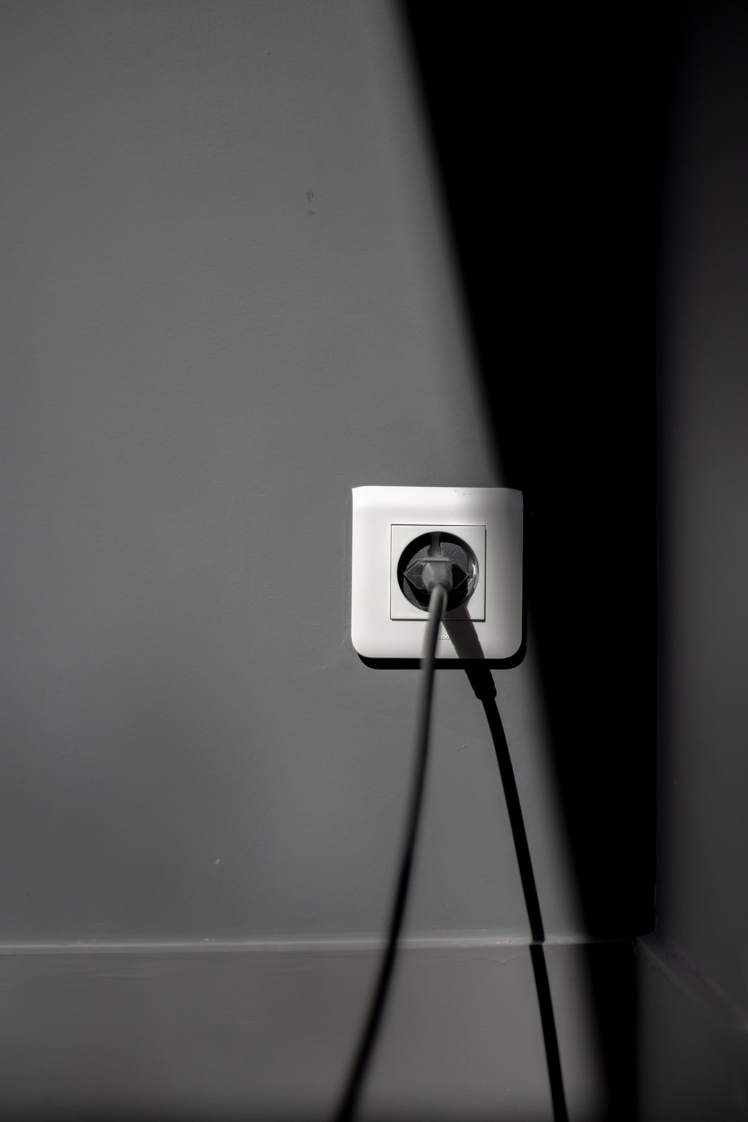 Electricity, black and white.