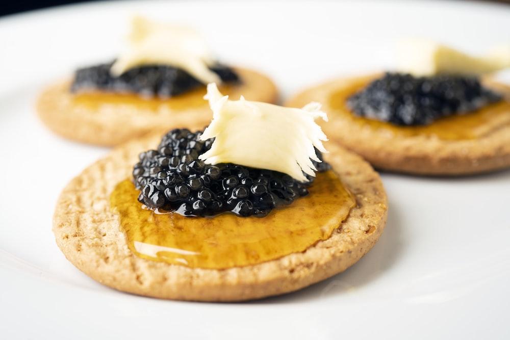 black berries on brown bread
