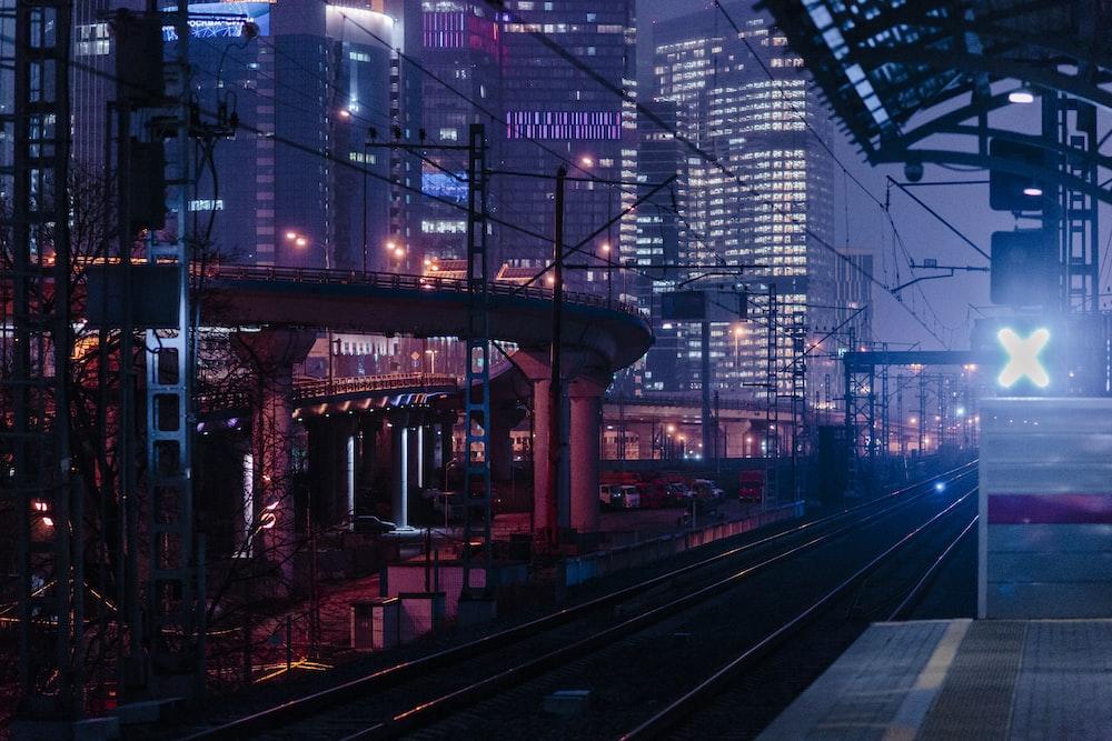 red and black train rail