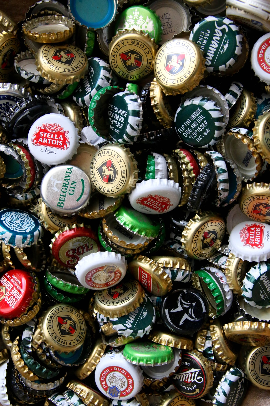 Many beer caps