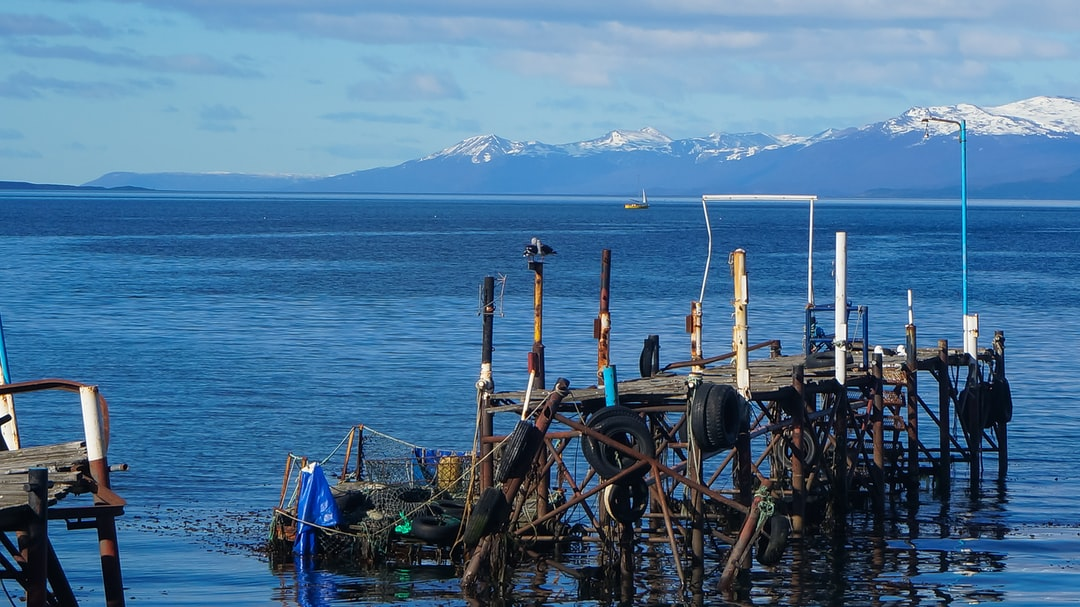 Abandoned pier at Ushuaia
