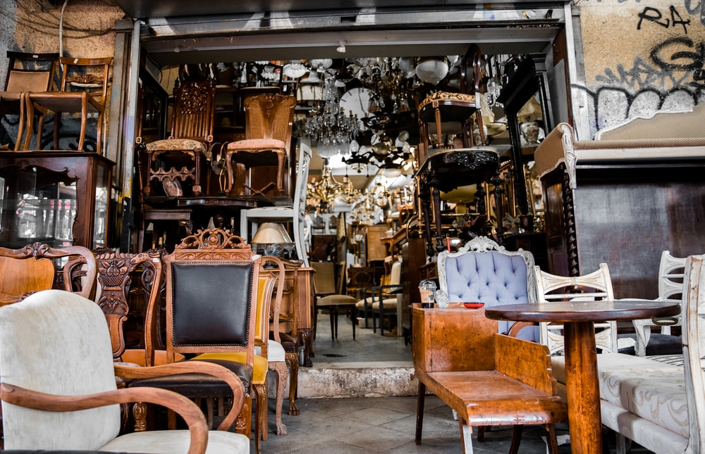 brown wooden chairs and tables