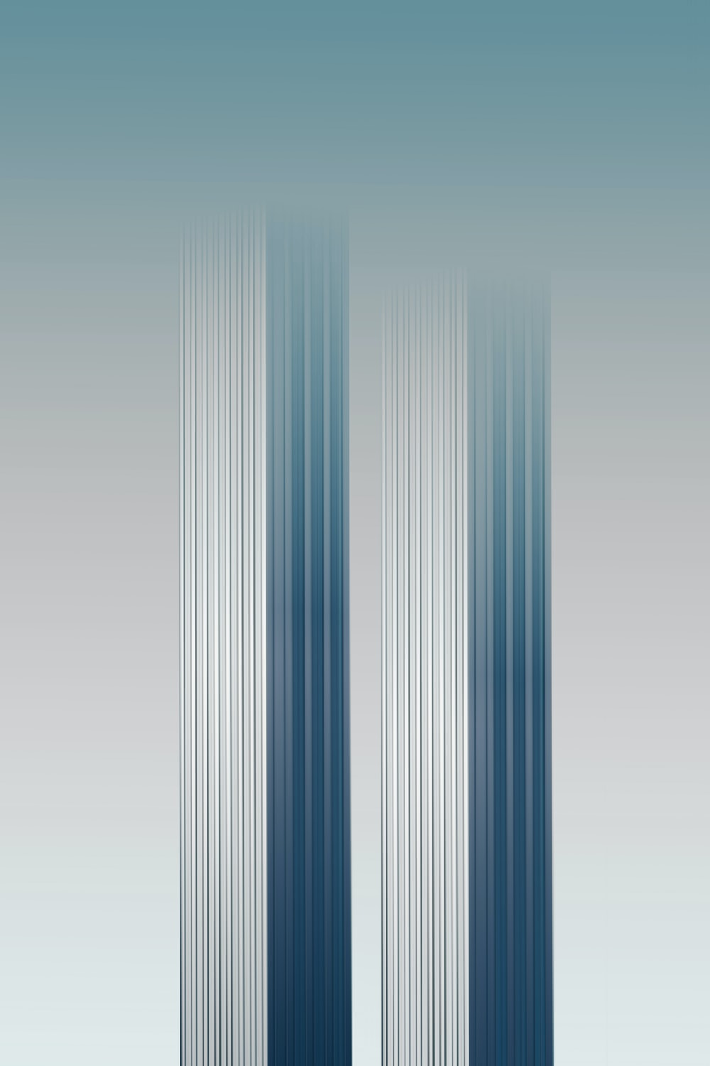 white and blue striped illustration