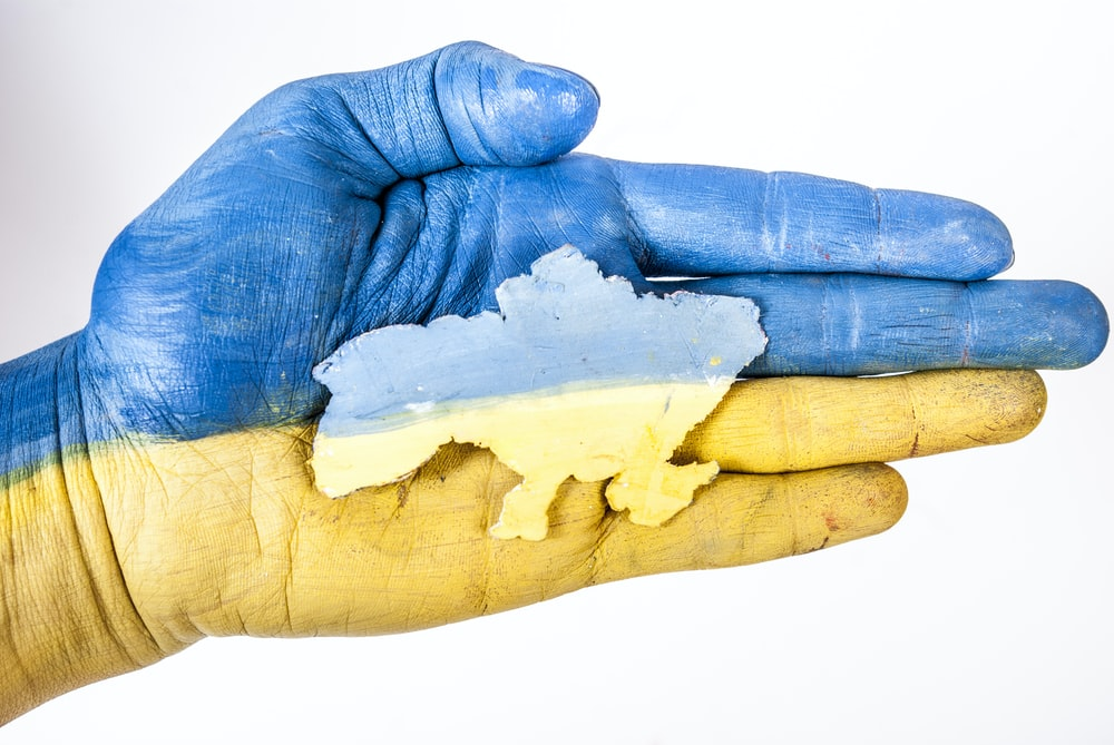 blue and yellow textile on white surface