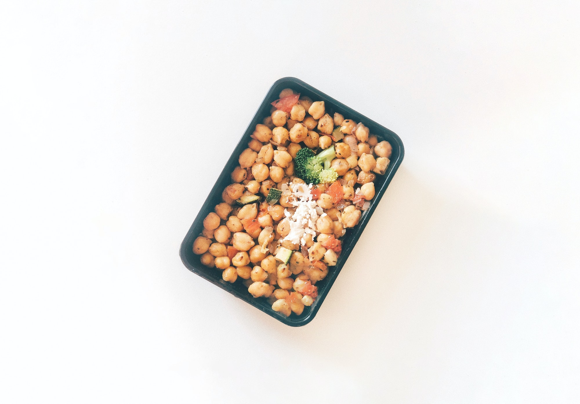 Indian Chickpeas - White Background