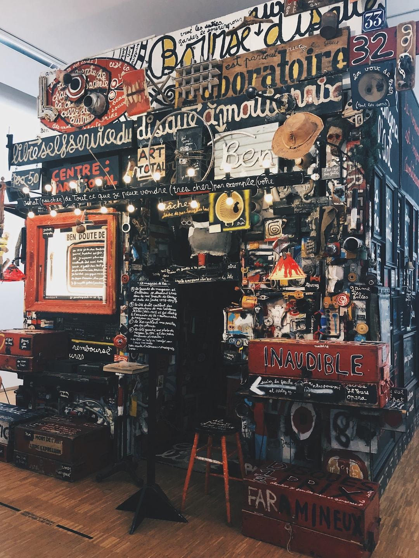Le magasin de Ben, Ben Vautier. Art in the Pompidou center