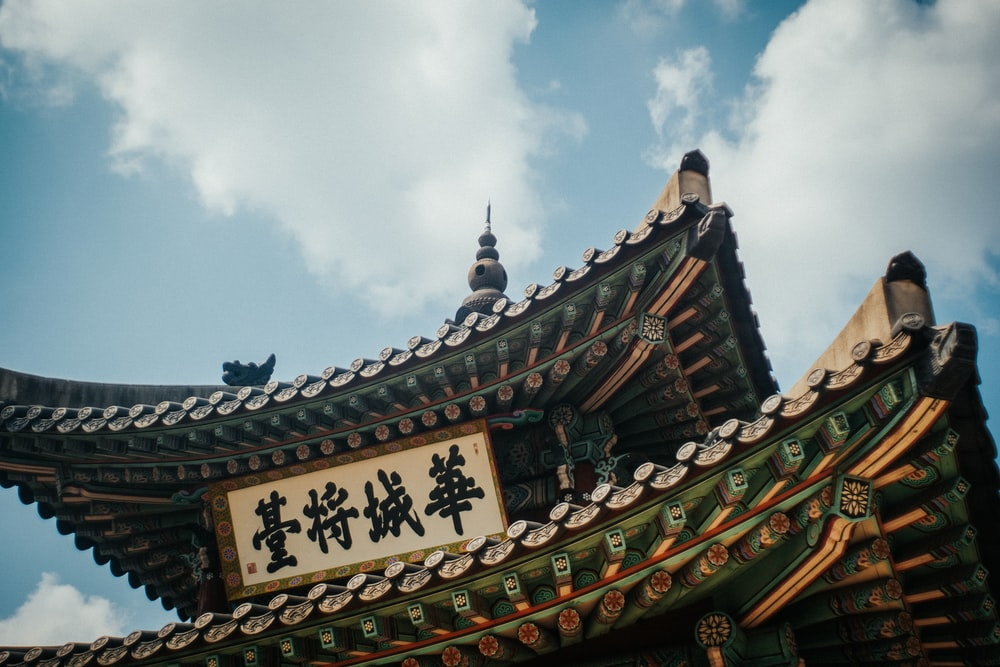brown and black chinese temple
