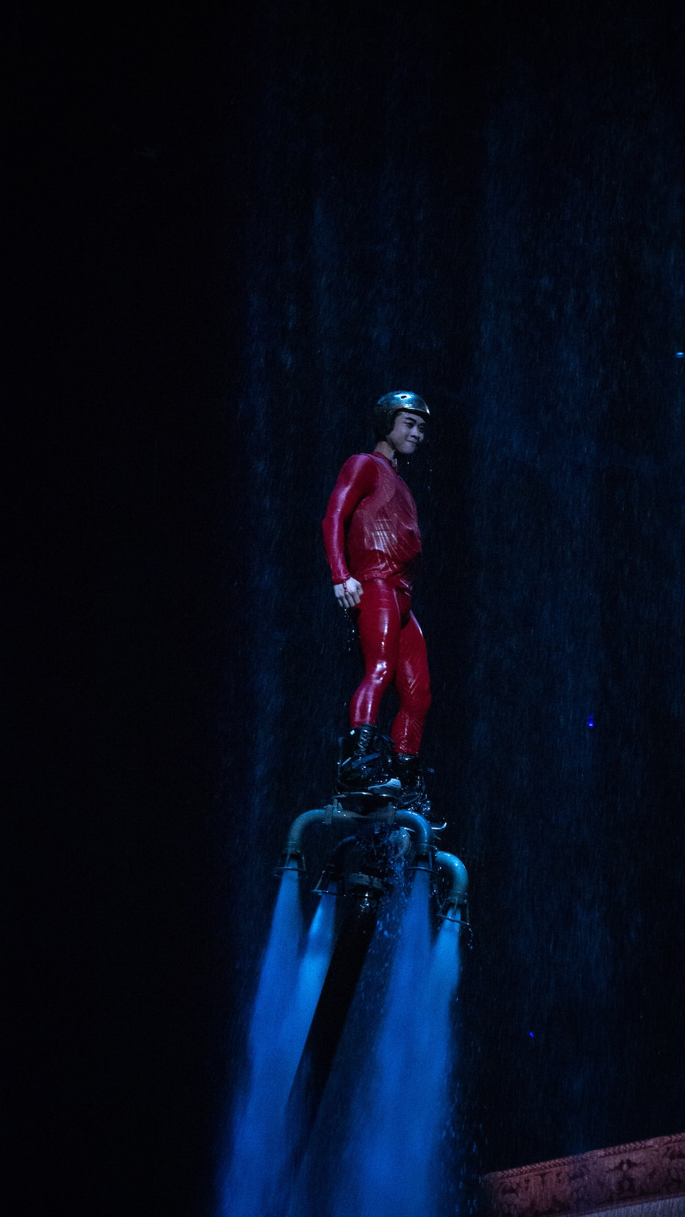 man in red suit action figure