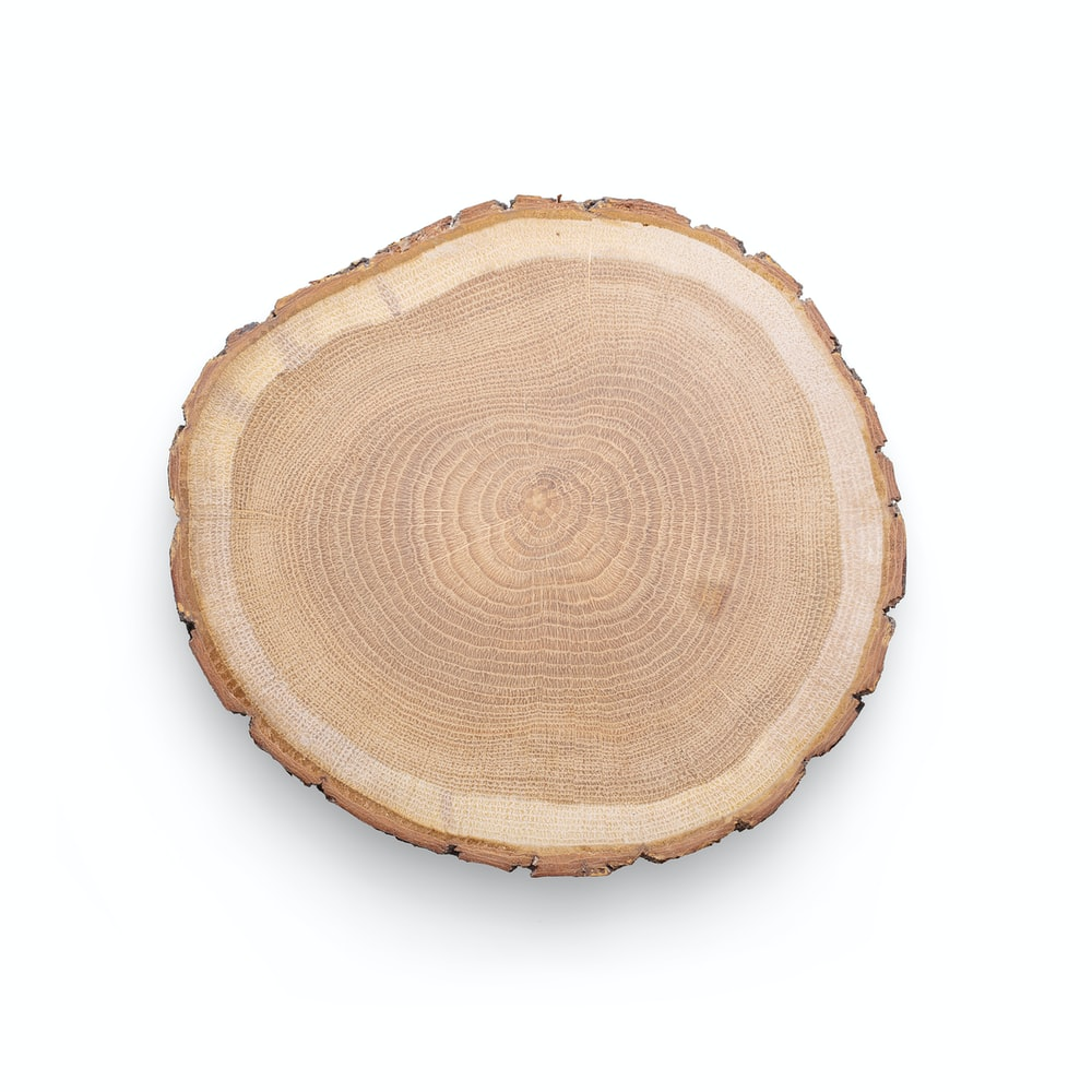 brown wooden round table decor