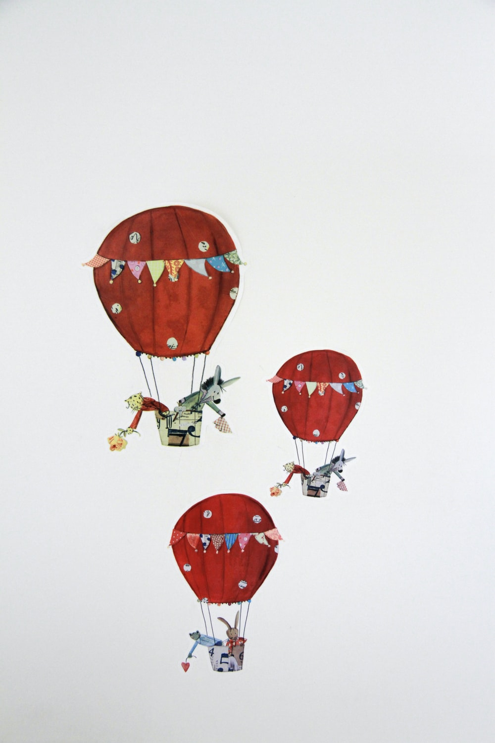 red and yellow balloons illustration