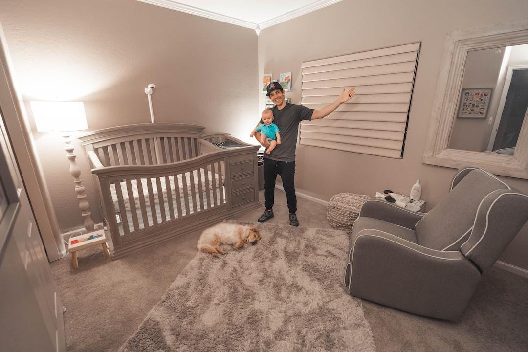 Baby boy nursery and dog