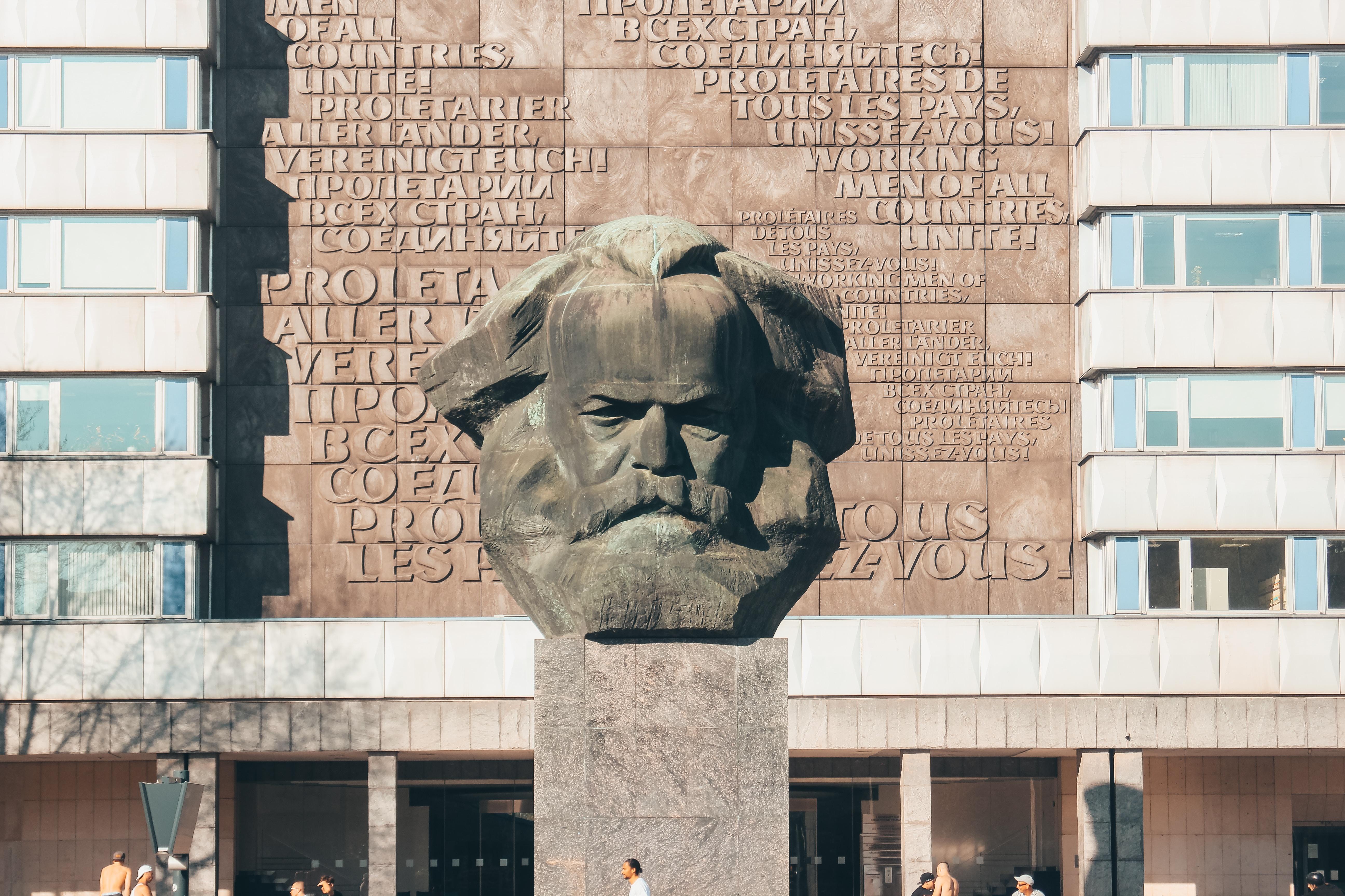 mans face concrete statue