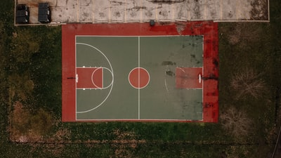 red and white basketball court basketball court teams background