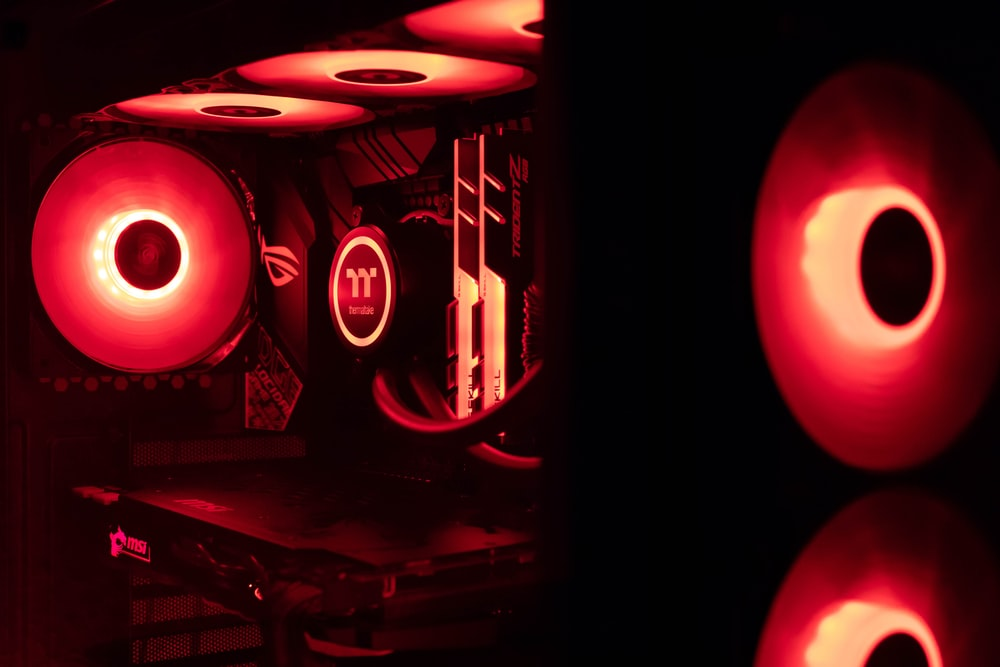 red and black audio component