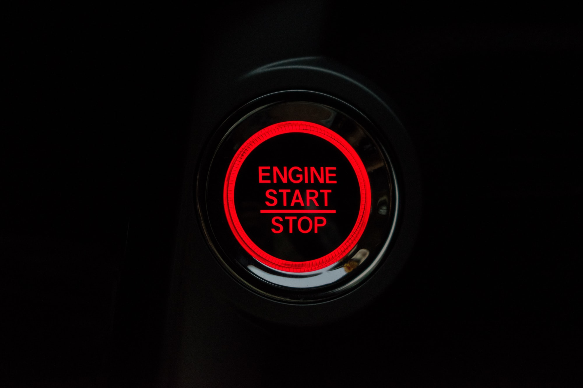 Engine start stop button of Honda City