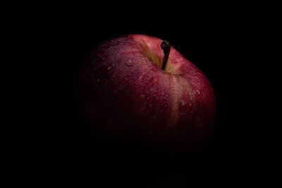 red apple with black background apple teams background