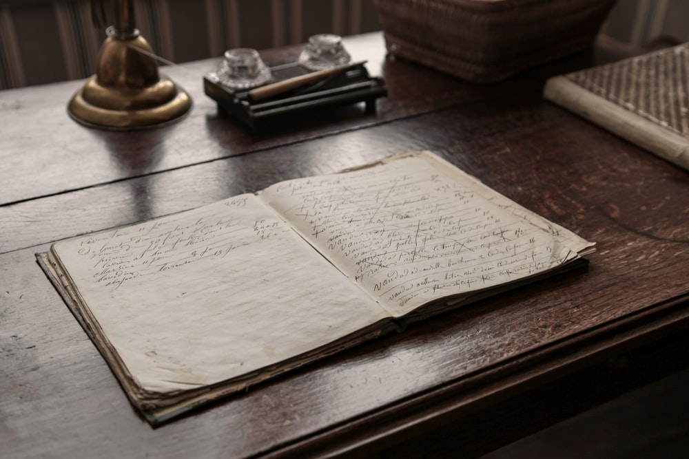 white book page on brown wooden table