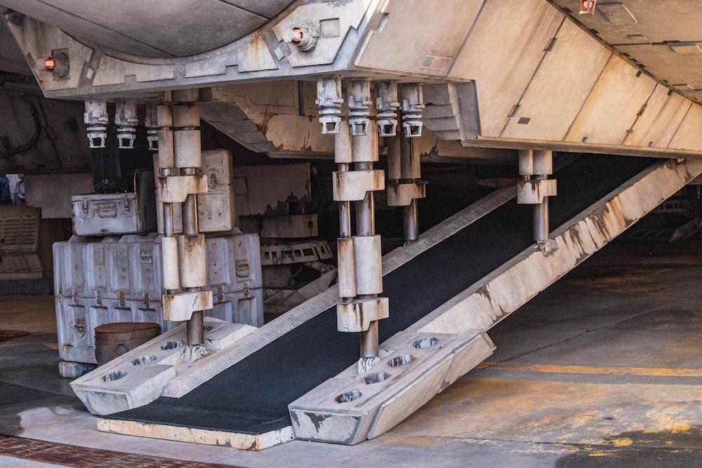 brown and gray metal machine