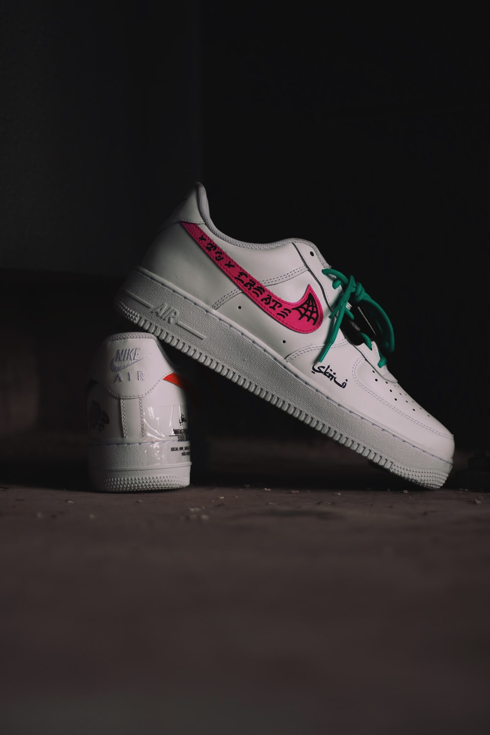 white and red nike air force 1 low