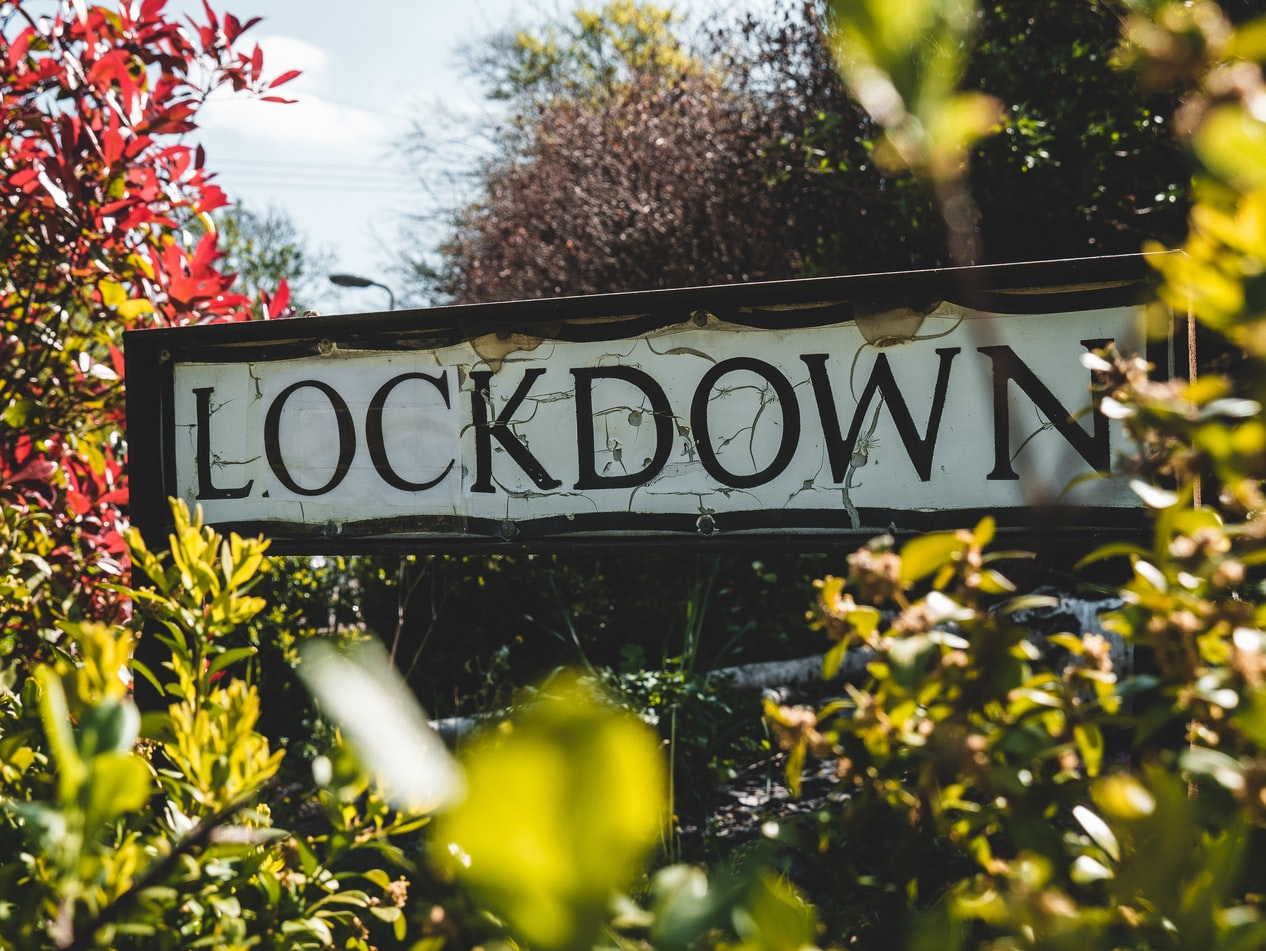 Lockdown - road sign by Matt Seymour