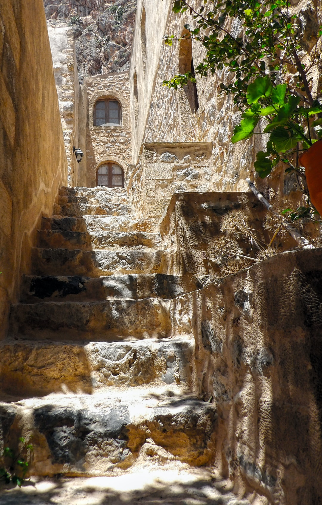 Stairs in the old town of Monemvasia